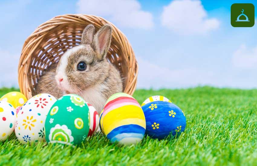 Paskalya tavşanı, paskalya yumurtası